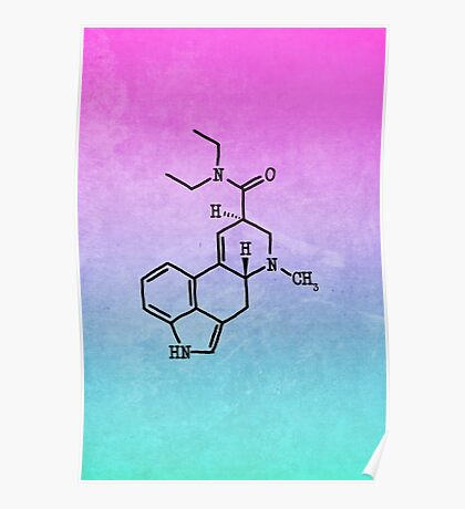 LSD - Molecular Structure Poster