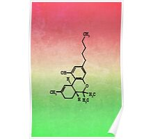 Marijuana - THC Molecular Structure Poster