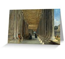 James Holland - The Colonnade of Queen Mary's House, Greenwich Greeting Card