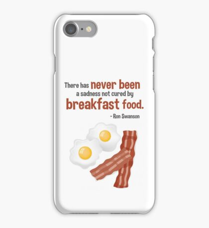 Parks & Recreation // Breakfast Food // Ron Swanson Quotable iPhone Case/Skin