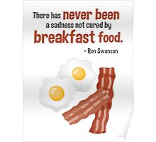 Parks & Recreation // Breakfast Food // Ron Swanson Quotable Poster