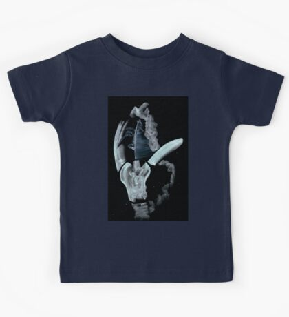 0047 - Brush and Ink - Face Kids Tee