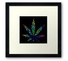 Marijuana in Marijuana Leaf [Rainbow] Framed Print