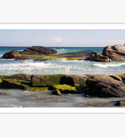 Redgate Beach Rocks with seaweed 2 Sticker