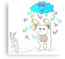 Positive cloud Canvas Print