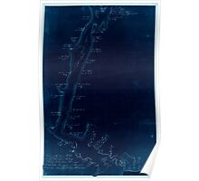 American Revolutionary War Era Maps 1750-1786 910 Survey of the River St Johns from Fort Frederick in the Bay of Fundy to the River Medauesqua with the Lake Inverted Poster