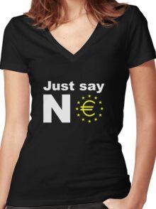 Just say no anti EU referendum ukip Women's Fitted V-Neck T-Shirt