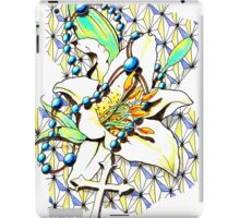 White Lily and The Cross iPad Case/Skin