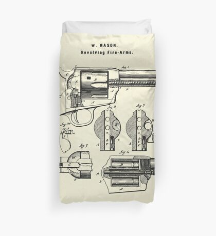 Revolving Fire Arm-1875 Duvet Cover