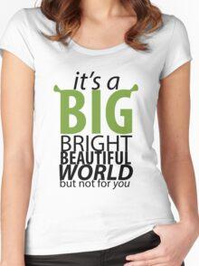 Big Bright Beautiful World- Shrek The Musical Women's Fitted Scoop T-Shirt