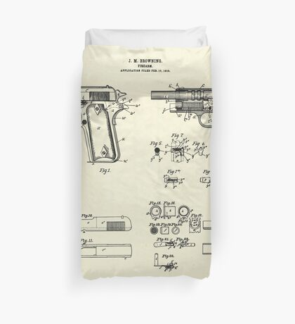 Fire Arm-1911 Duvet Cover