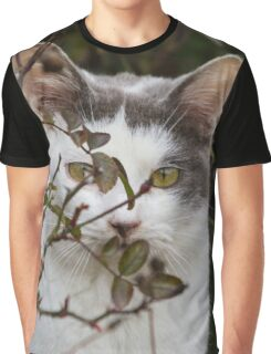 cute cat in the garden Graphic T-Shirt
