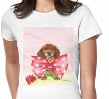 Puppy Love Womens Fitted T-Shirt
