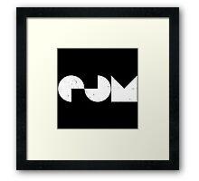 EDM - Electronic Dance Music [White] Framed Print