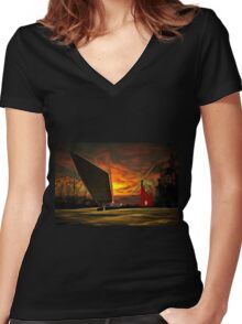 Memories of the Norfolk Broads Women's Fitted V-Neck T-Shirt
