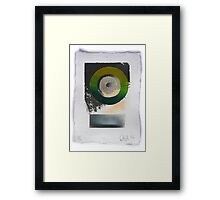 Green silkscreen and Gold leaf 'drawing'. 5 of 6. Framed Print