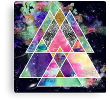Cool abstract geometric triangles watercolor Canvas Print