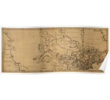 American Revolutionary War Era Maps 1750-1786 055 A map of Canada and the north part of Louisiana with the adjacent countrys Poster
