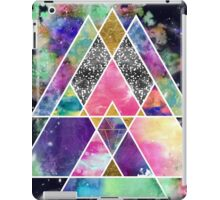 Cool abstract geometric triangles watercolor iPad Case/Skin