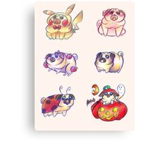 Silly Pugs Canvas Print