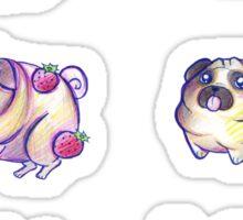 Silly Pugs Sticker
