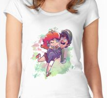Daisy Carrying Luigi Women's Fitted Scoop T-Shirt