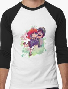 Daisy Carrying Luigi Men's Baseball ¾ T-Shirt
