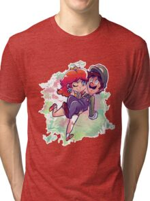 Daisy Carrying Luigi Tri-blend T-Shirt