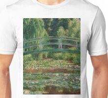 1899-Claude Monet-The Japanese Footbridge and the Water Lily Pool, Giverny-89 x 93 Unisex T-Shirt