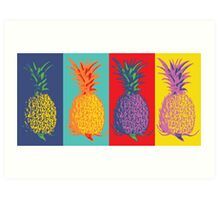 Pineapple Pop-Art Art Print