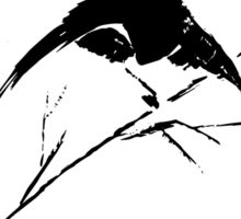 0033 - Brush and Ink - Bird Watcher Vector Rebuild Sticker