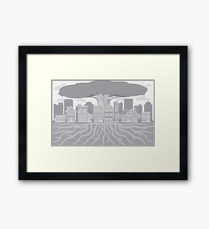 Minimalist Suburb Framed Print