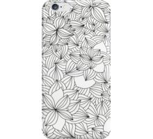 Black and white line leaves - Vertical iPhone Case/Skin