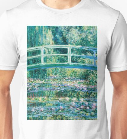 1899-Claude Monet-Water Lilies and Japanese Bridge Unisex T-Shirt