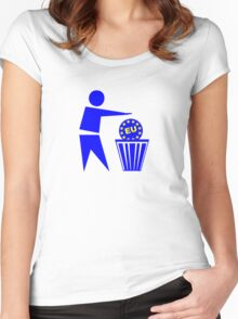 Europe Women's Fitted Scoop T-Shirt