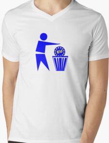 Europe Mens V-Neck T-Shirt