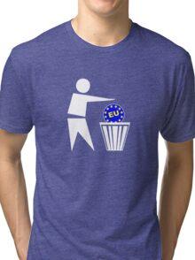 Put the EU in the bin ukip Tri-blend T-Shirt