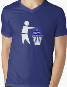 Put the EU in the bin ukip Mens V-Neck T-Shirt