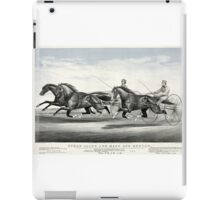 Ethan Allen and Mate and Dexter - 1867 - Currier & Ives iPad Case/Skin