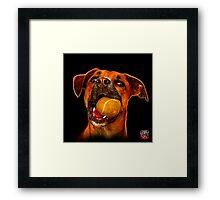 boxer mix dog pop art 8173 Framed Print