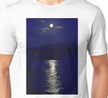 Moon in blue Unisex T-Shirt