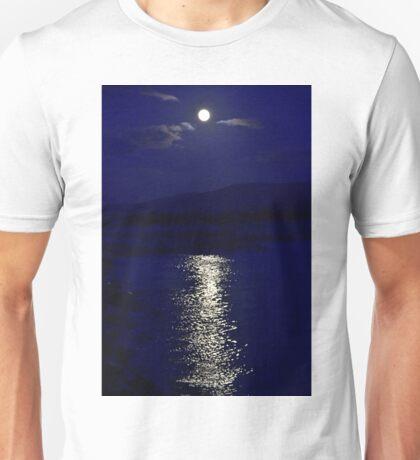 Moon in blue Unisex T-Shirt