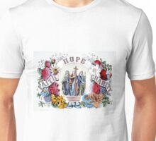 Faith Hope Charity - 1874 - Currier & Ives Unisex T-Shirt