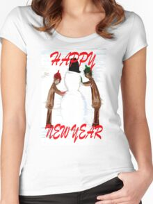HAPPY NEW YEAR 21 Women's Fitted Scoop T-Shirt