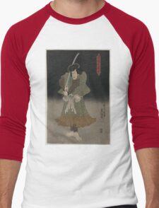 Kunisada Utagawa - Akugenta Yoshihra - 1848 - Woodcut Men's Baseball ¾ T-Shirt