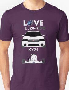 Subaru love, black T-Shirt