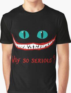 Chever Cat Joker Alice in Wonderland Graphic T-Shirt