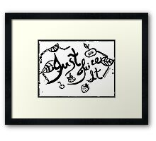 Rachel Doodle Art - Just Juice It Framed Print