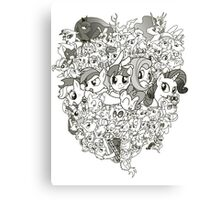 My Little Pony - mid Season 2 Groupshot Canvas Print