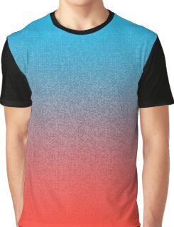 Retro 3D Dithered Gradient Graphic T-Shirt